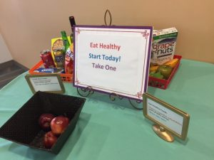 The clinic offers wellness education and fills their lobby with information and takeaways for patients.